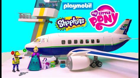 Playmobil Passenger Airplane Airport Tower Playset Toy ...