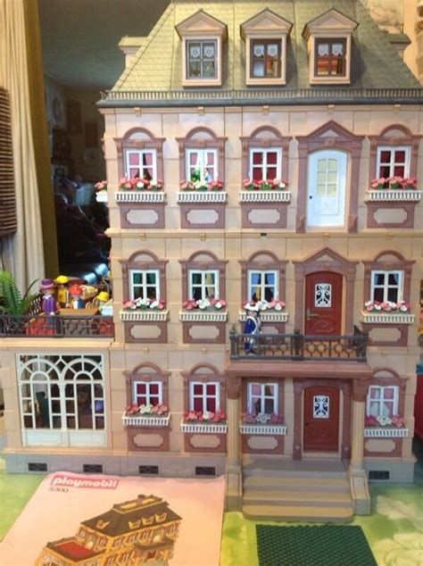 PLAYMOBIL RARE 4 STOREY VICTORIAN MANSION DOLLS HOUSE ...
