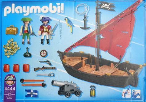 Playmobil Set: 4444 usa   pirate dinghy   Klickypedia
