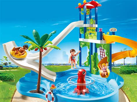 Playmobil Set: 6669   water park with slide tower ...
