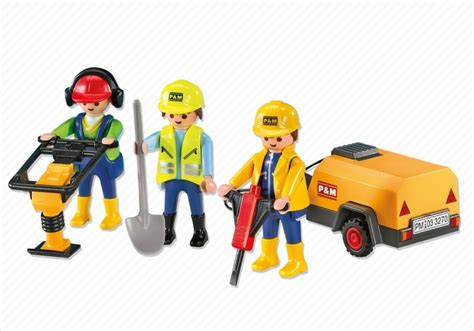 Playmobil Set: 7451   3 Construction workers   Klickypedia