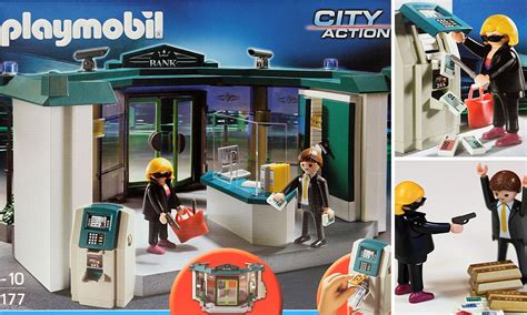 Playmobil set re enacting a bank robbery is put on sale at ...