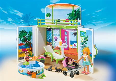 Playmobil   Summer Fun Beach House Play Box   6159
