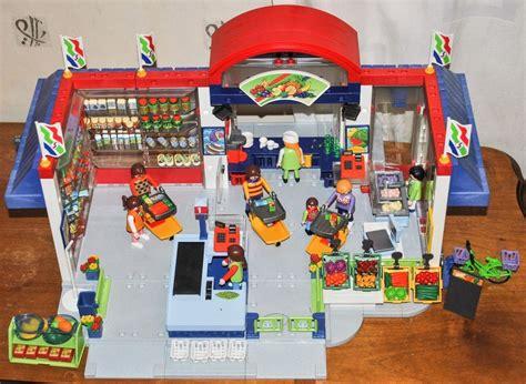 Playmobil Supermarket #3200, Grocery Checkout #3201, Deli ...