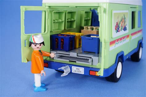 PLAYMOBIL SUPERMARKET GROCERY DELIVERY VAN WITH LOTS OF ...
