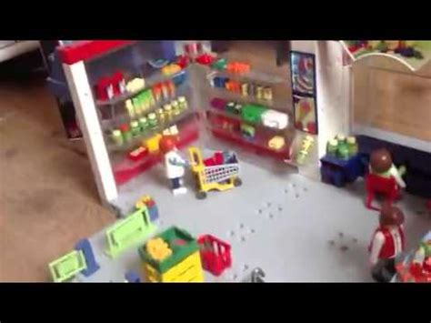Playmobil supermarket   YouTube