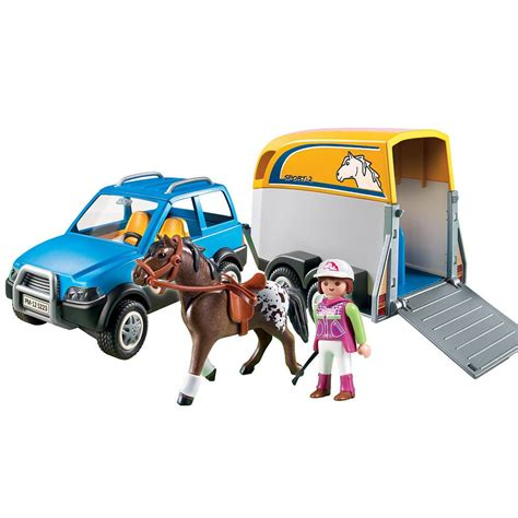 Playmobil SUV with Horsetrailer   Playmobil   Toys  R  Us ...