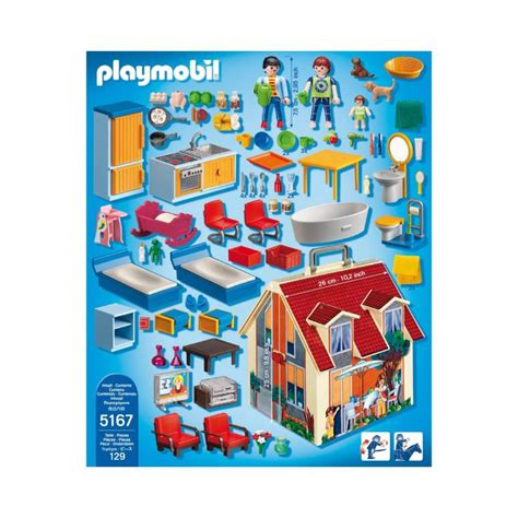 Playmobil Take Along Modern Doll House 5167 | Table ...