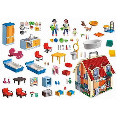 Playmobil Take Along Modern Doll House with Furniture – K ...