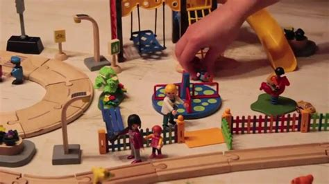Playmobil Theme Park with Brio Trains and Lego Duplo   YouTube