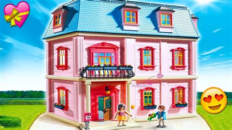 Playmobil Toy Dollhouse New Family Moves Into Beautiful ...