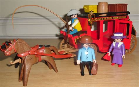 PLAYMOBIL WESTERN STAGE COACH 3245 VINTAGE COMPLETE ...