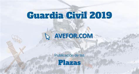 Plazas para Guardia Civil 2019   AVEFOR