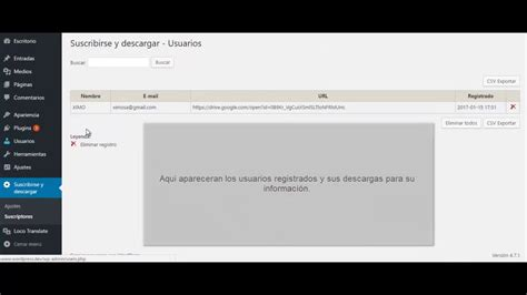 Plugin wordpress Suscribirse para descargar   YouTube