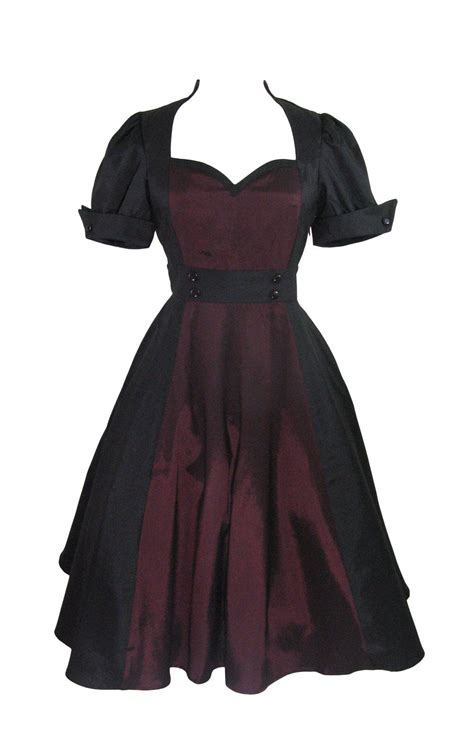Plus Size Vintage 60 s Queen of Hearts Two Tone Black and ...