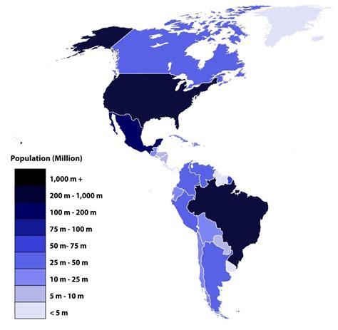 Población de los países de América  2019  | Saber es práctico