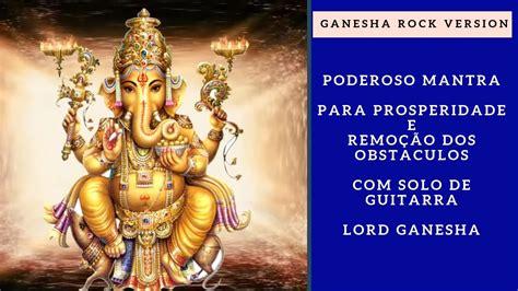 Poderoso Mantra para Prosperidade  Ganesha  Rock com solo ...
