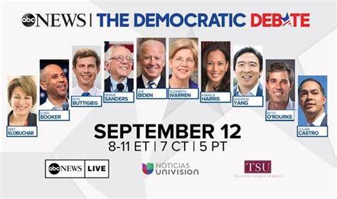 Podium Order For ABC Democratic Debate On Sept. 12 ...