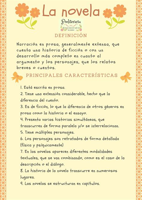 Poeliteraria: SECUENCIACIÓN DE ACTIVIDADES. LA NOVELA ...