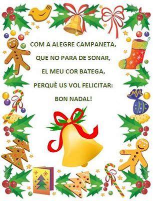 Poema: Com alegra campaneta   Versos de navidad, Poemes de ...