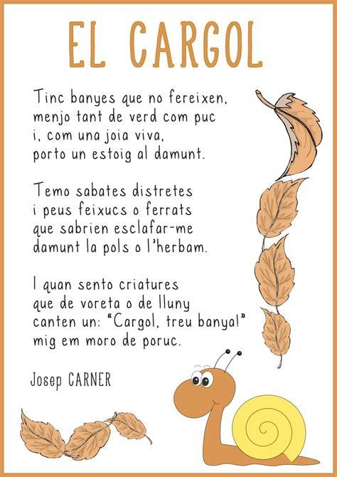 Poema El cargol   Tardor, Poemas y Recursos literarios