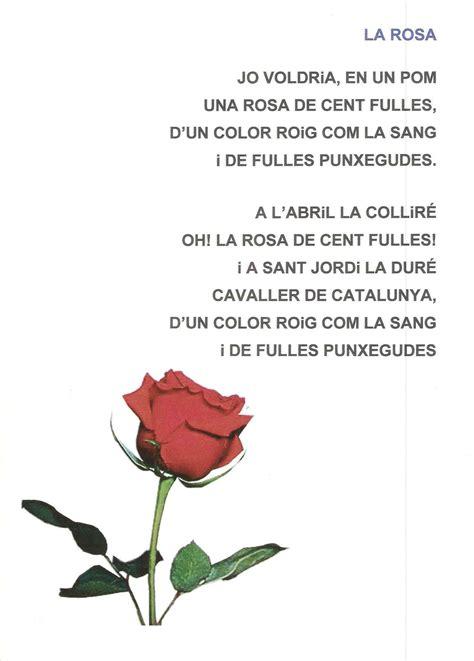 Poema LA ROSA P4   Jordi, Actividades para clase de ...