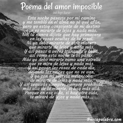 Poema Poema del amor imposible de José Ángel Buesa ...