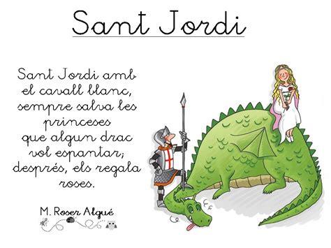 Poema   Sant Jordi, de M. Roser Algué ~ Play & Learn