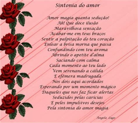 Poemas e Textos Românticos: Sintonia do Amor