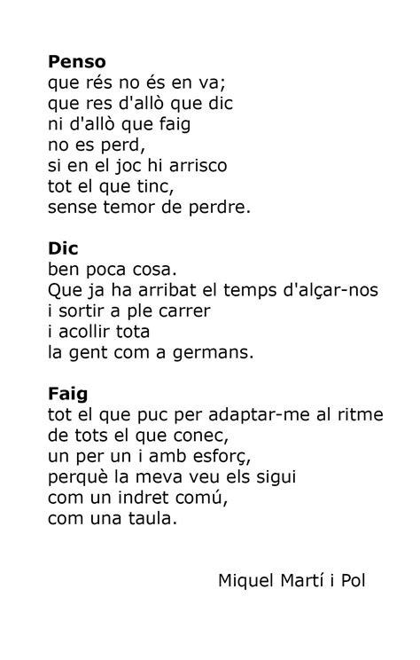 Poemas En Catalan   Daily Spanish 2020 To 2021