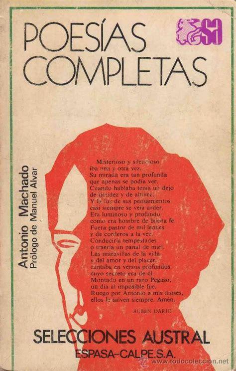 poesías completas   antonio machado  literatura   Comprar ...