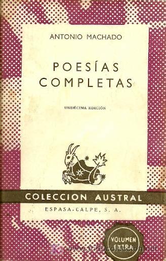 poesías completas / antonio machado ; prólogo d   Comprar ...