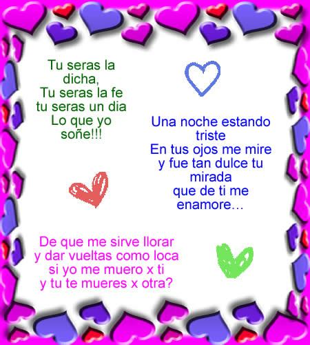 Poesias de amor ~ Frases Romanticas