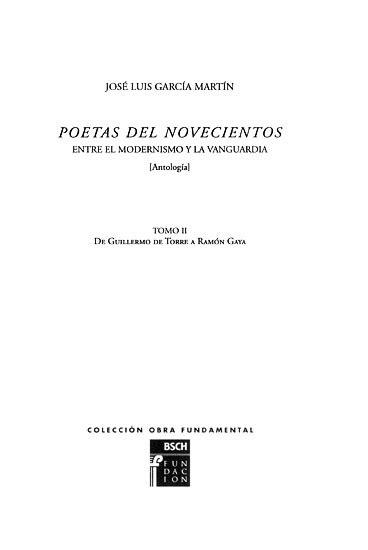 Poetas del Novecientos : entre el Modernismo y la ...