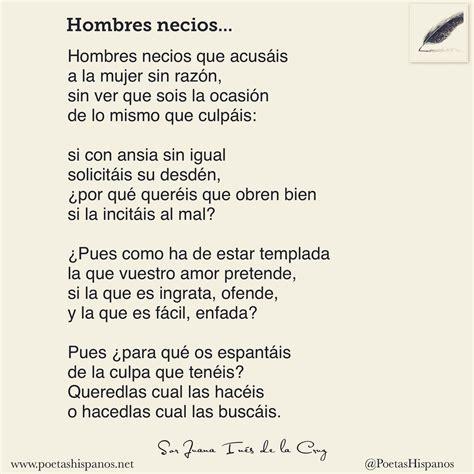 """Poetas Hispanos on Twitter:  """"Hombres necios que acusáis ..."""