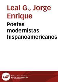 Poetas modernistas hispanoamericanos | Biblioteca Virtual ...