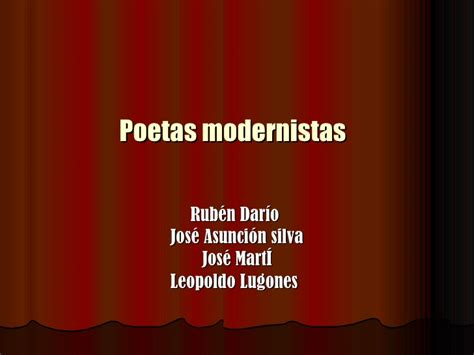 Poetas Modernistas