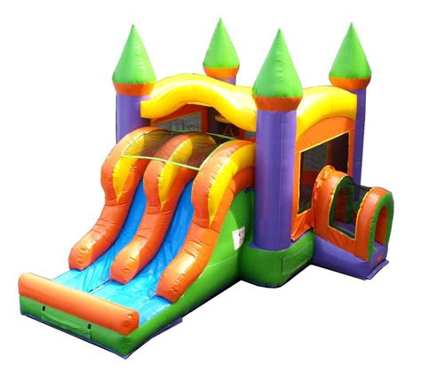 Pogo Commercial Inflatable Castle Bounce House with Dual ...