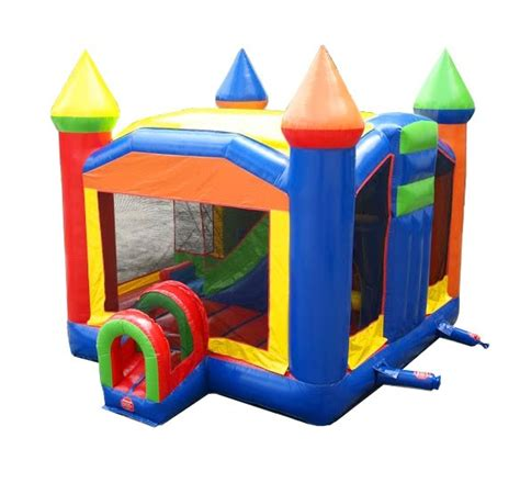 Pogo Commercial Inflatable Castle Bounce House with Slide ...