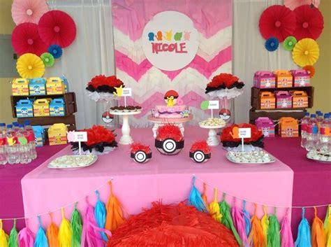 Pokemon / pink Birthday Party Ideas | Pink birthday ...