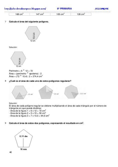 Polígonos Ejercicios + Solucionario