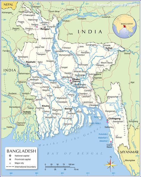 Political Map of Bangladesh   Nations Online Project