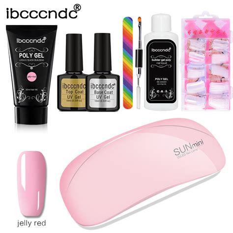 Polygel Kit de uñas de Gel rápida extensión UV LED – Manos ...