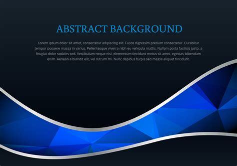 Polygonal style wave background vector   Download Free ...