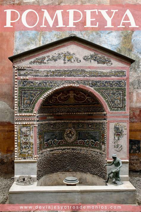 Pompeya es una antigua ciudad romana que desapareció en el ...
