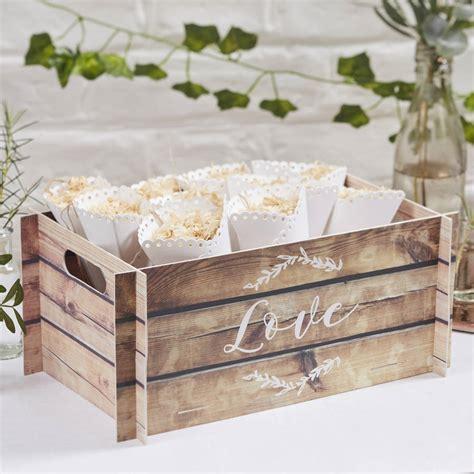pop up card wooden print wedding crate/ bushel box by ...