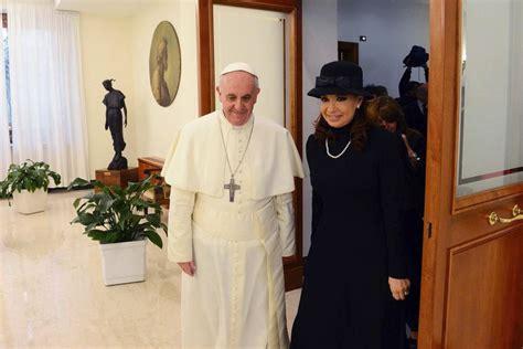 Pope Francis meets Argentina s president Cristina ...