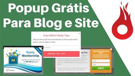 Popup Grátis para Wordpress Blog e Sites   Aumente Suas ...