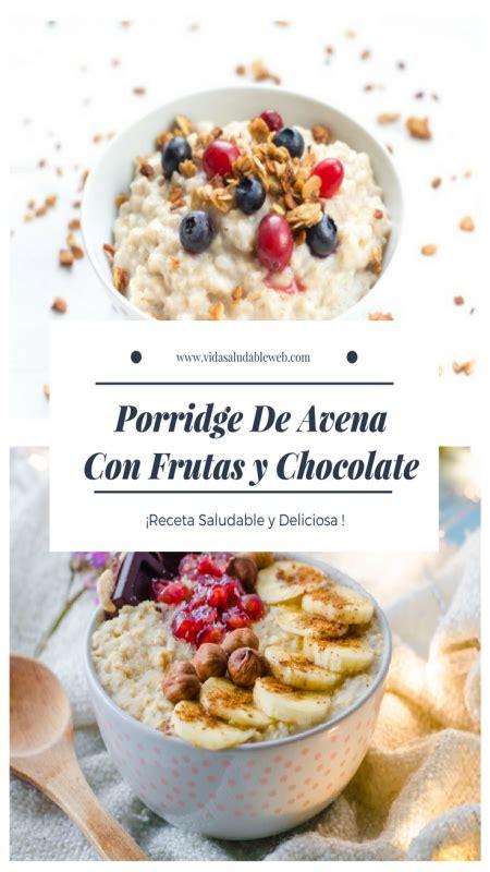 Porridge receta de avena con frutas | Avena con frutas ...
