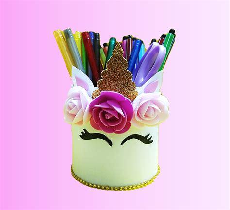 Porta lápices de unicornio muy fácil de hacer. # ...